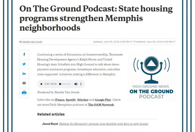 On The Ground Podcast: State housing programs strengthen Memphis neighborhoods
