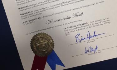 "June Is ""Homeownership Month"" in Tennessee"