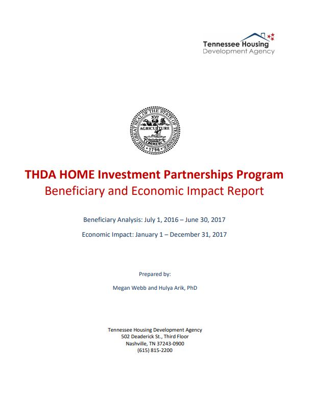 2016-2017 HOME Beneficiary and Economic Impact Report