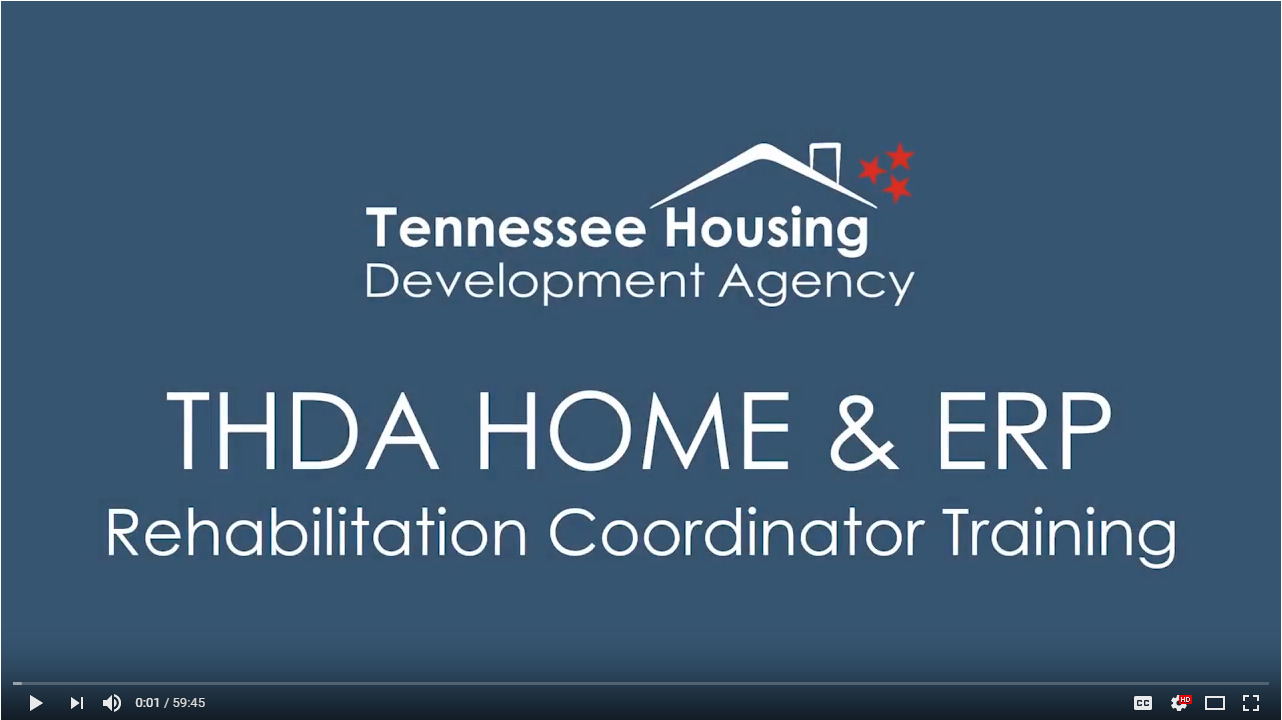 THDA Rehab Coordinator Training Video
