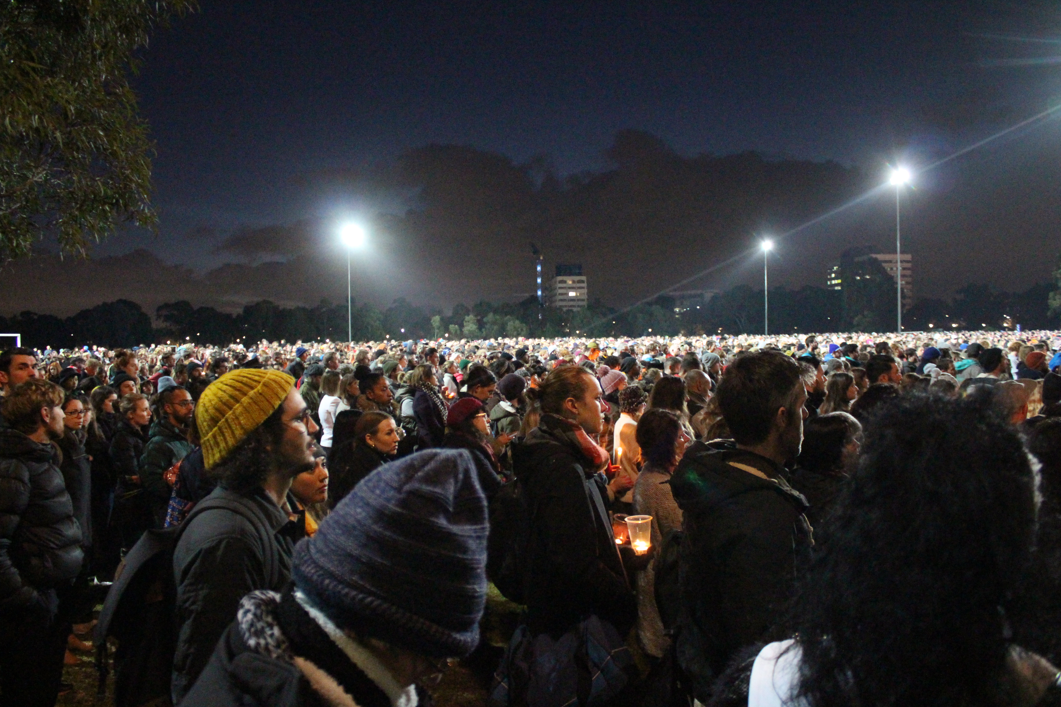 Park becomes hallowed ground for grieving the cruel end to a young life