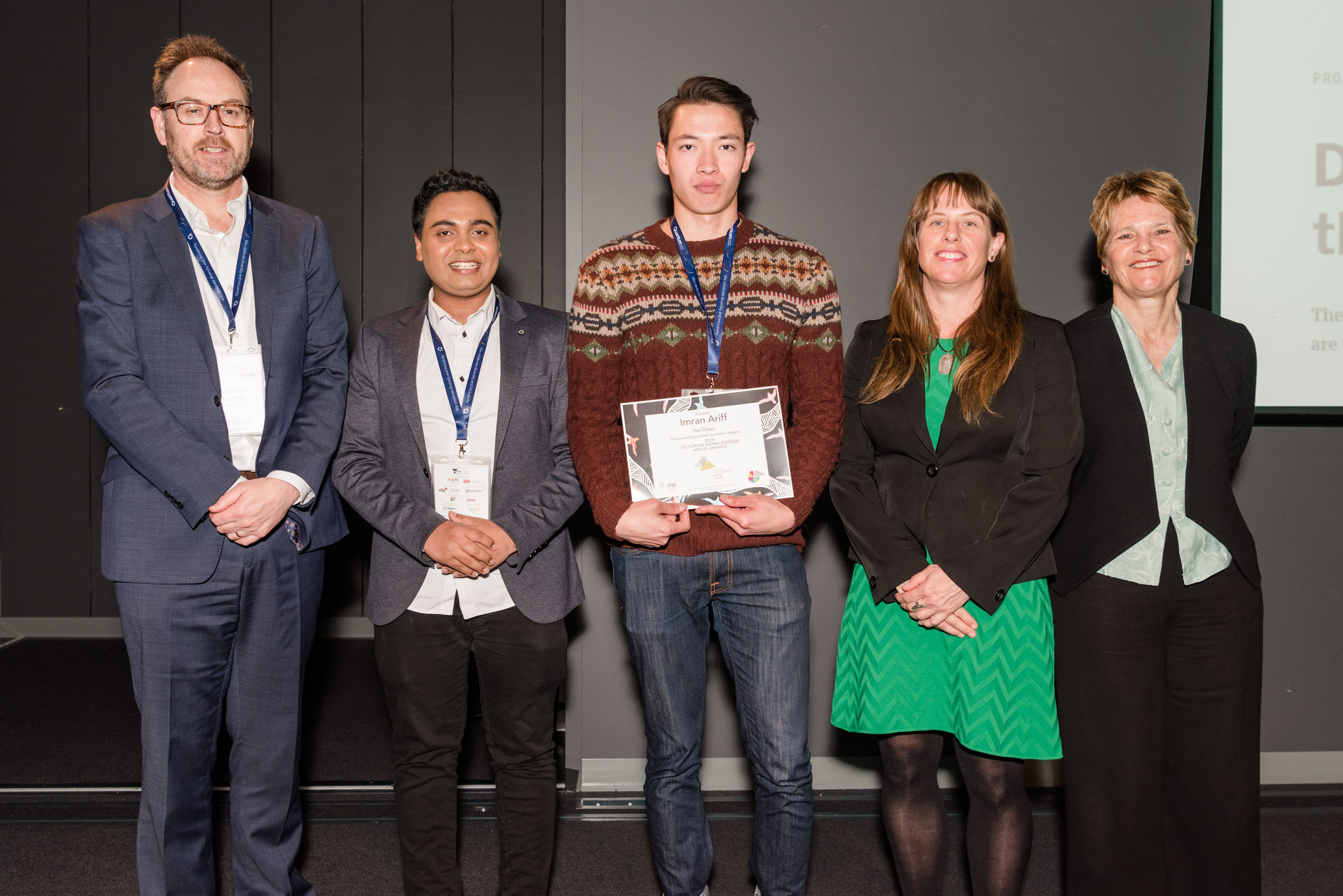 Citizen journalist recognised at Victorian Homeless Media Awards