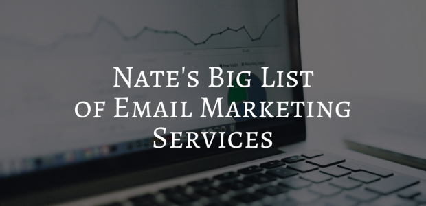 Nate's Big List of Email Service Companies Marketing Self-Pub