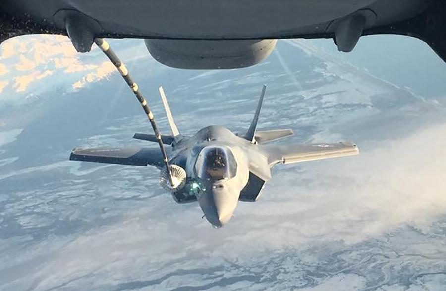 Photo of F-35B during its transit to Japan-USMC