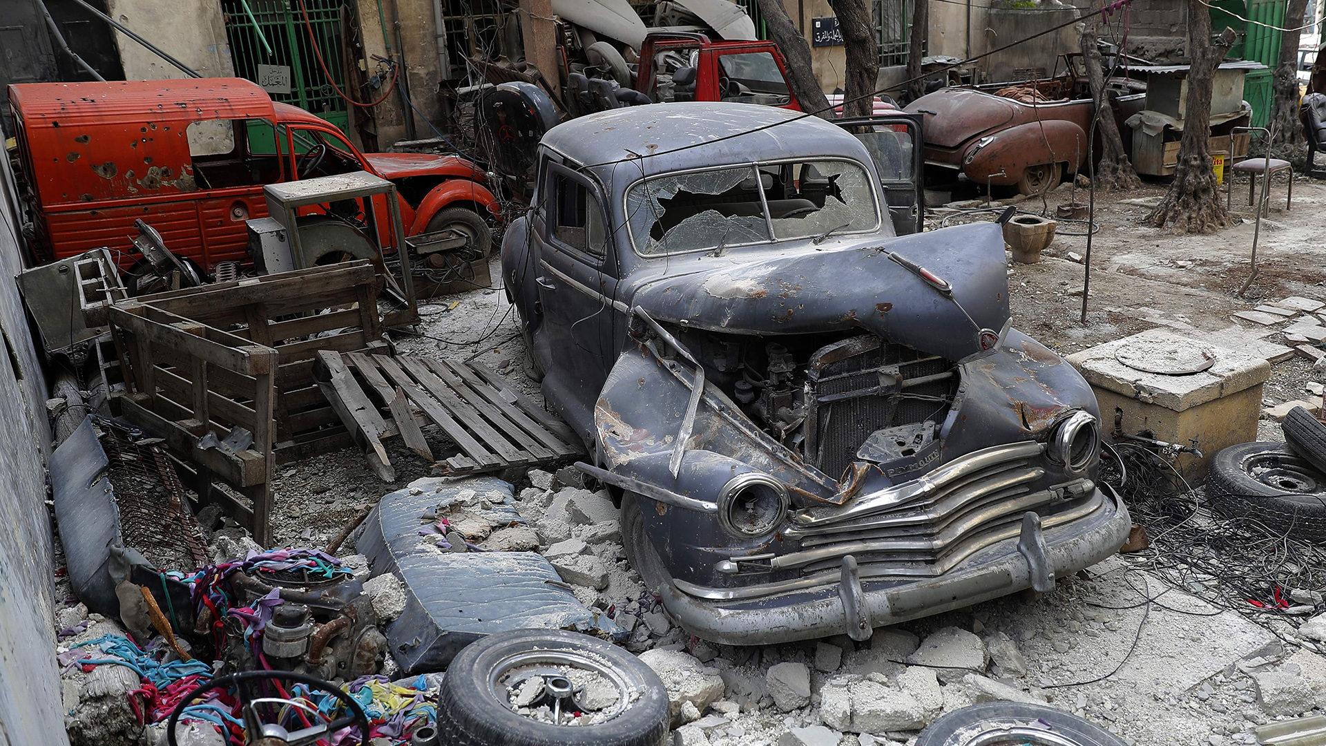 Syrian Man Loses Most of Classic Car Collection in War - The Drive