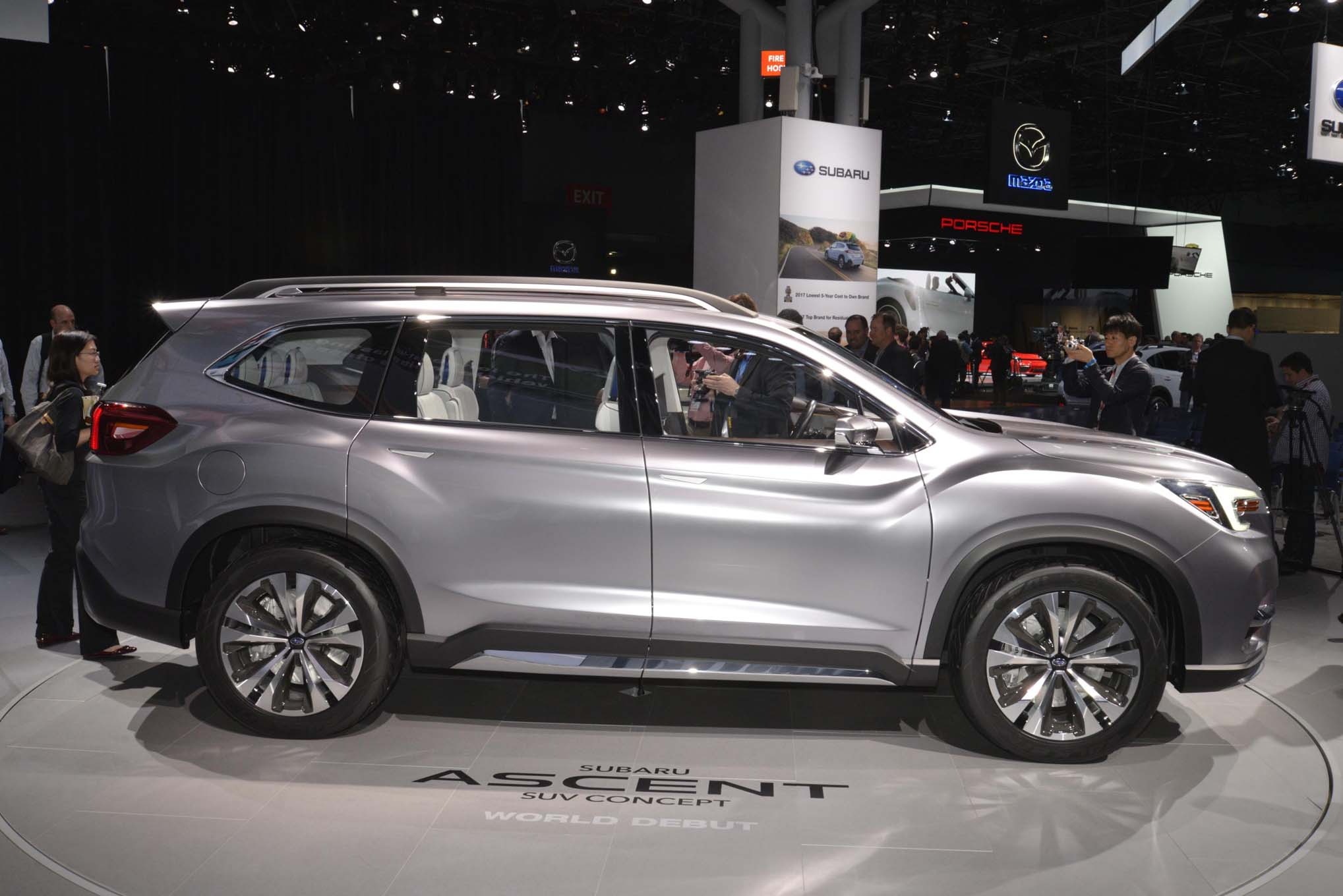2018 Subaru Ascent Suv Revealed In New York The Drive