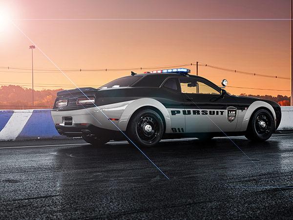 Dodge Challenger Srt Demon Police Concept Is A Cop S Dream