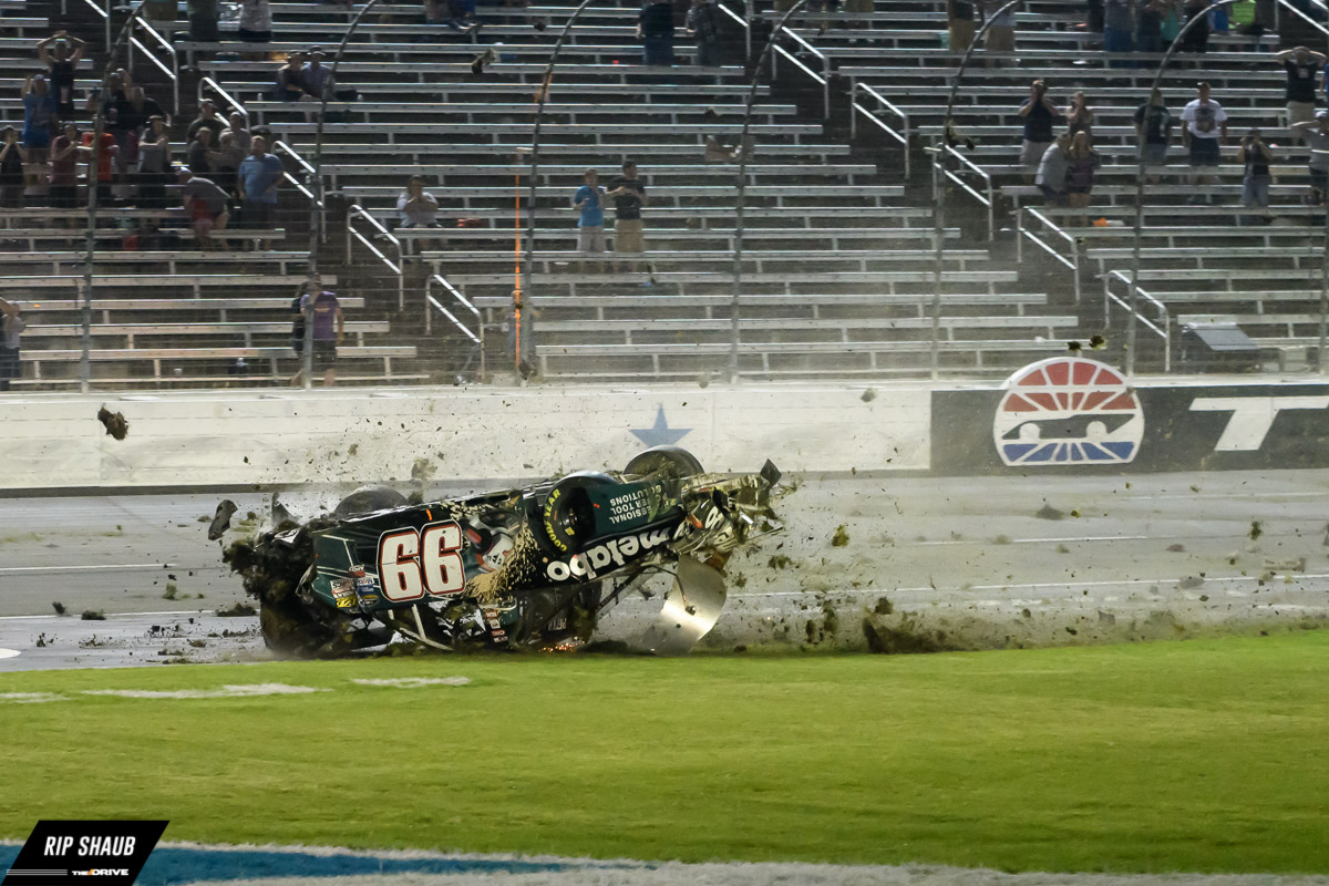 Timothy Peters Crashes Spectacularly At Texas Motor