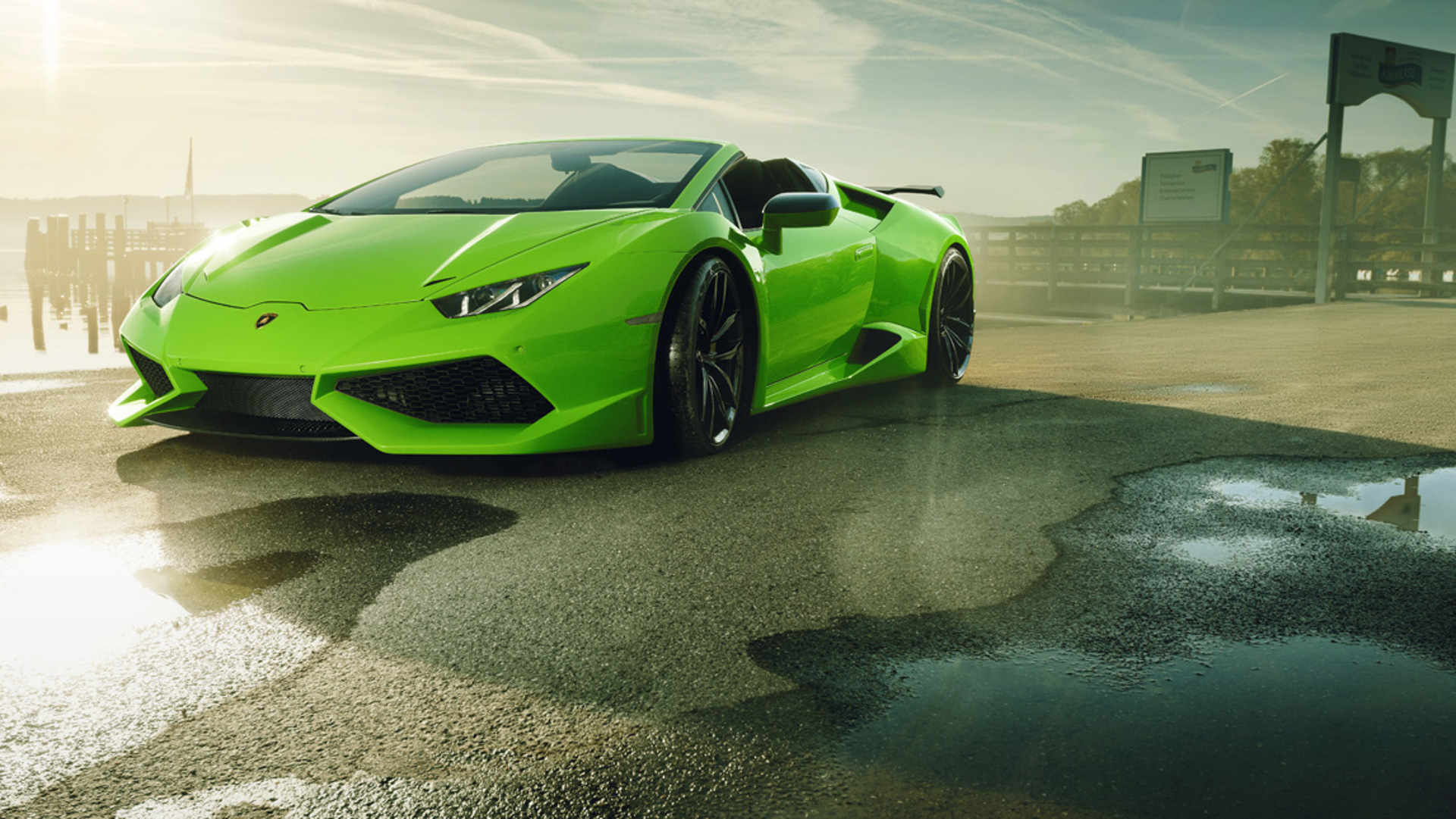 Novitec S Widebody Lamborghini Huracan Spyder Is A Supercharged Summertime Stunner The Drive