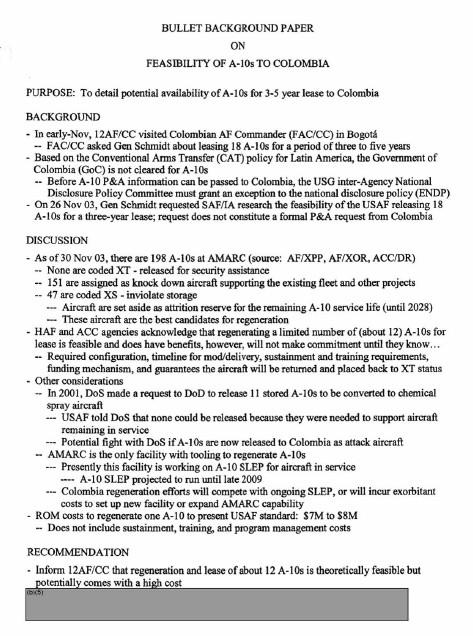 Notas curiosas:La Fuerza Aérea de EE. UU. Casi alquila un escuadrón de Warthogs A-10 a Colombia - Página 2 Message-editor%2F1498106750238-bbp-a-10