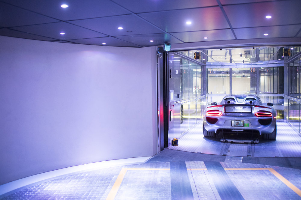Porsche Design Tower Harbors Supercars During Hurricane