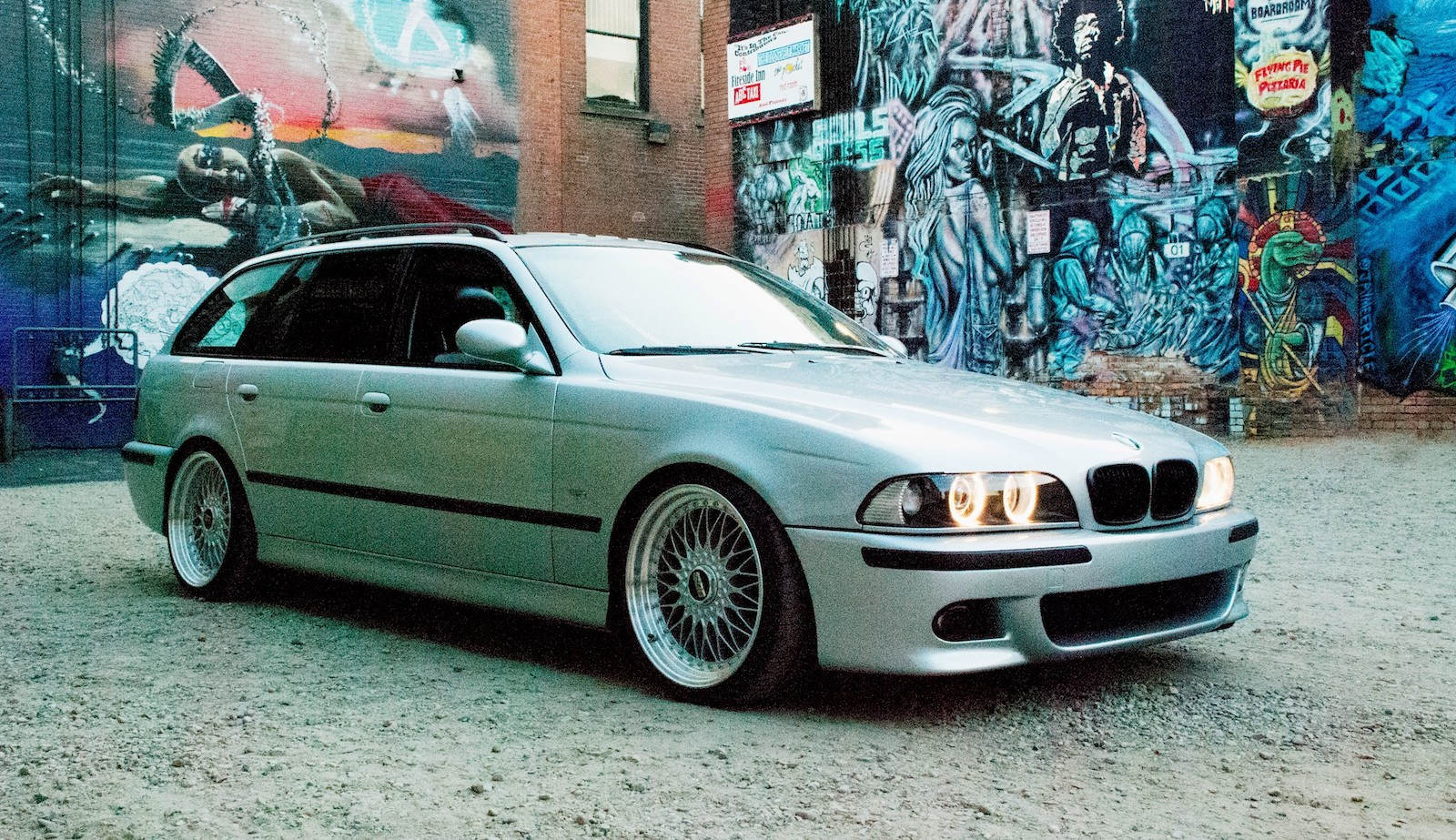 This Bmw 5 Series Wagon Is Powered By A 60 Liter Ls2 Engine The Drive Bring Trailer