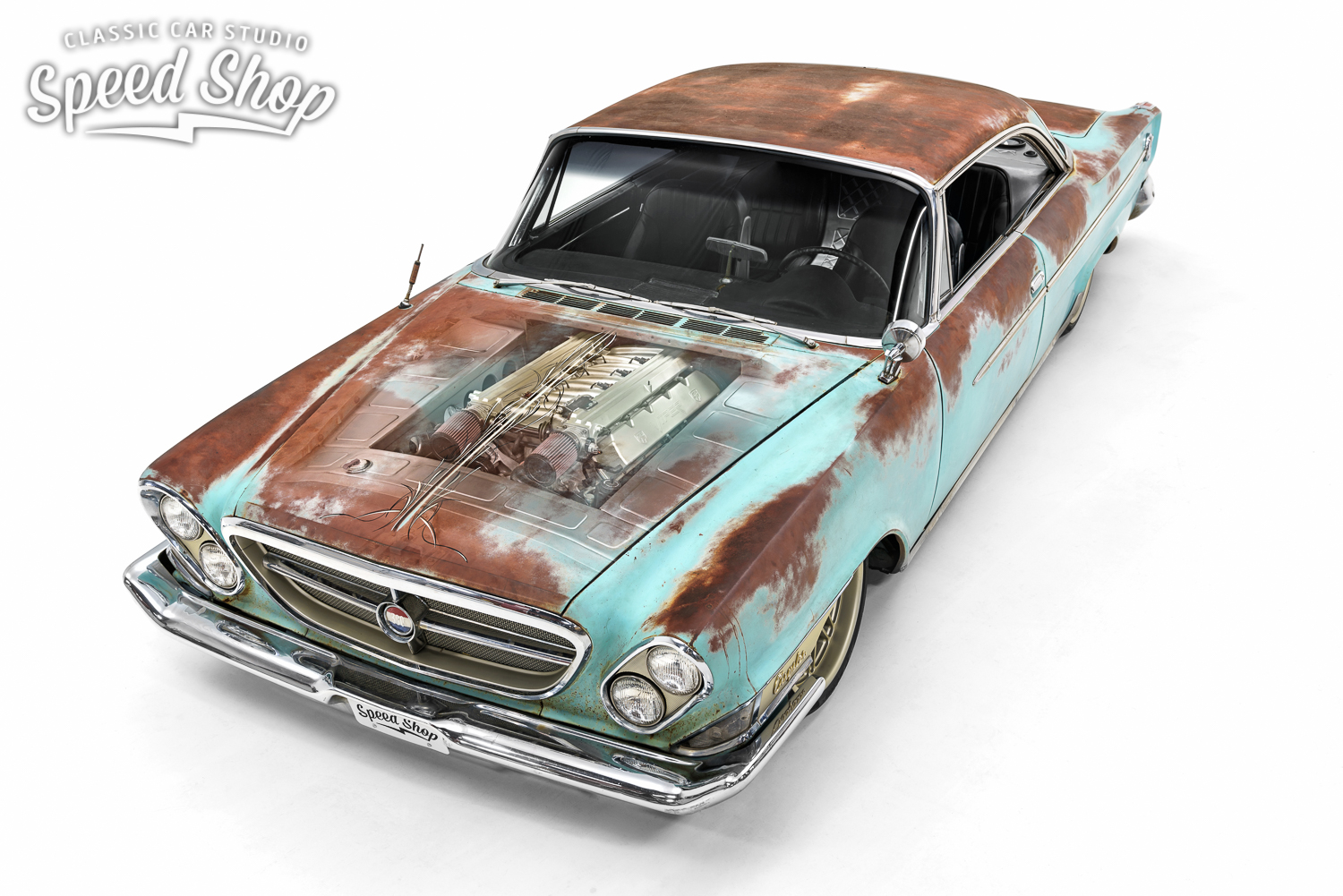 This 1962 Chrysler 300 Rat Rod Has a Viper V-10 Under Its Rusty Hood ...