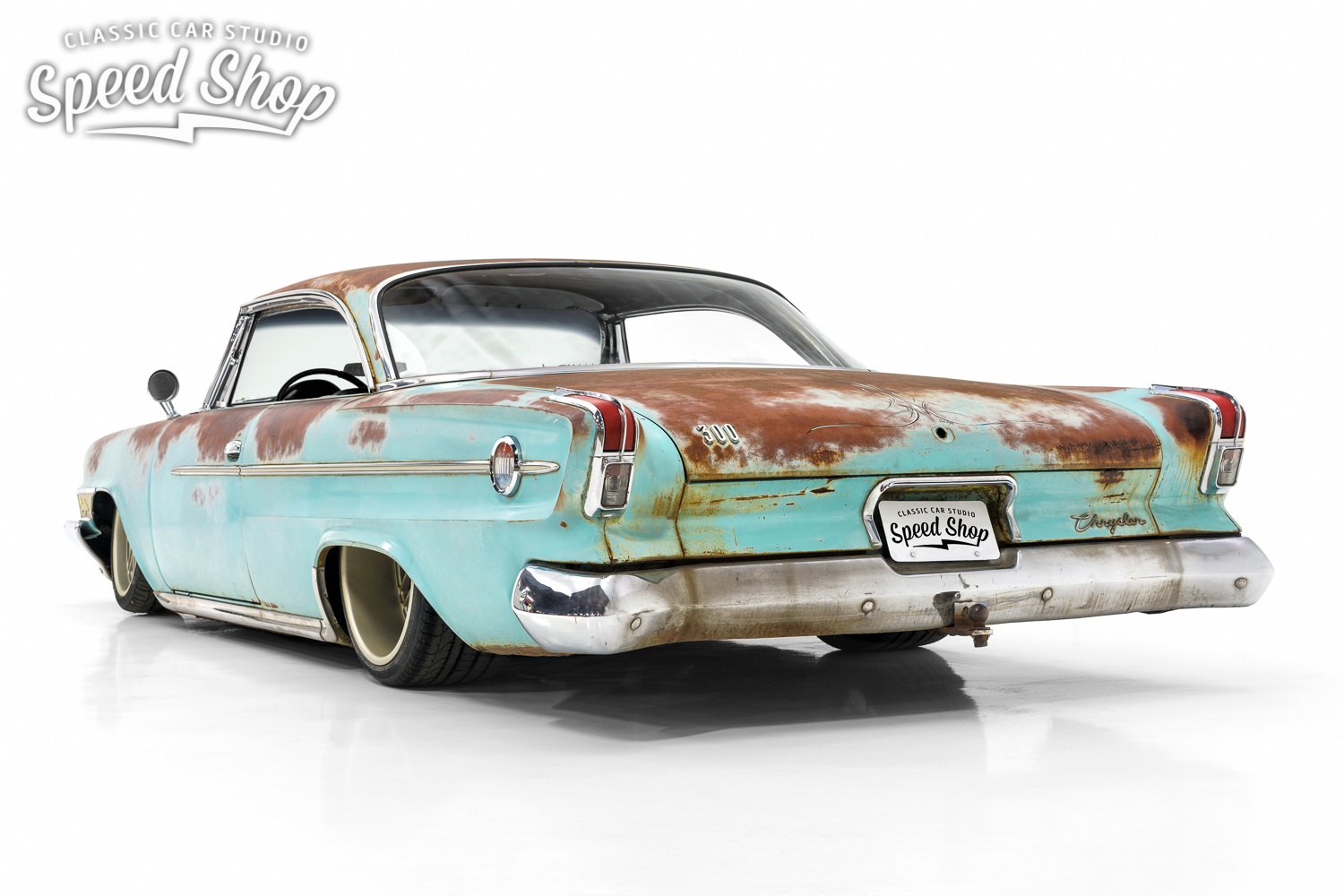 This 1962 Chrysler 300 Rat Rod Has A Viper V 10 Under Its Rusty Hood Custom Hot Wiring Harness Classic Car Studio