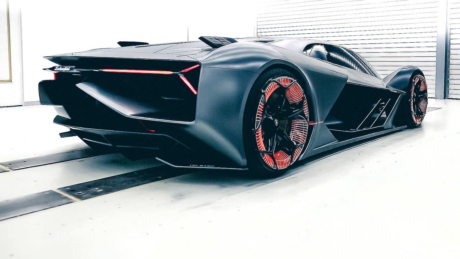 lamborghini mit unveil electric terzo millennio concept  drive