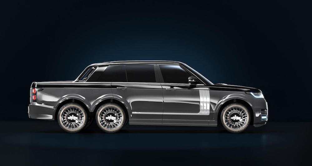 Land Rover Truck >> Range Rover 6x6 Pickup Truck Is A Superyacht S Terrestrial