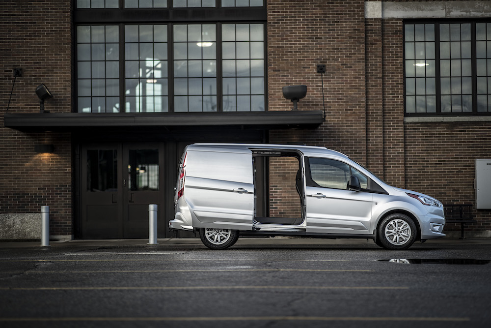 ford unveils  transit connect cargo van   work truck show  drive