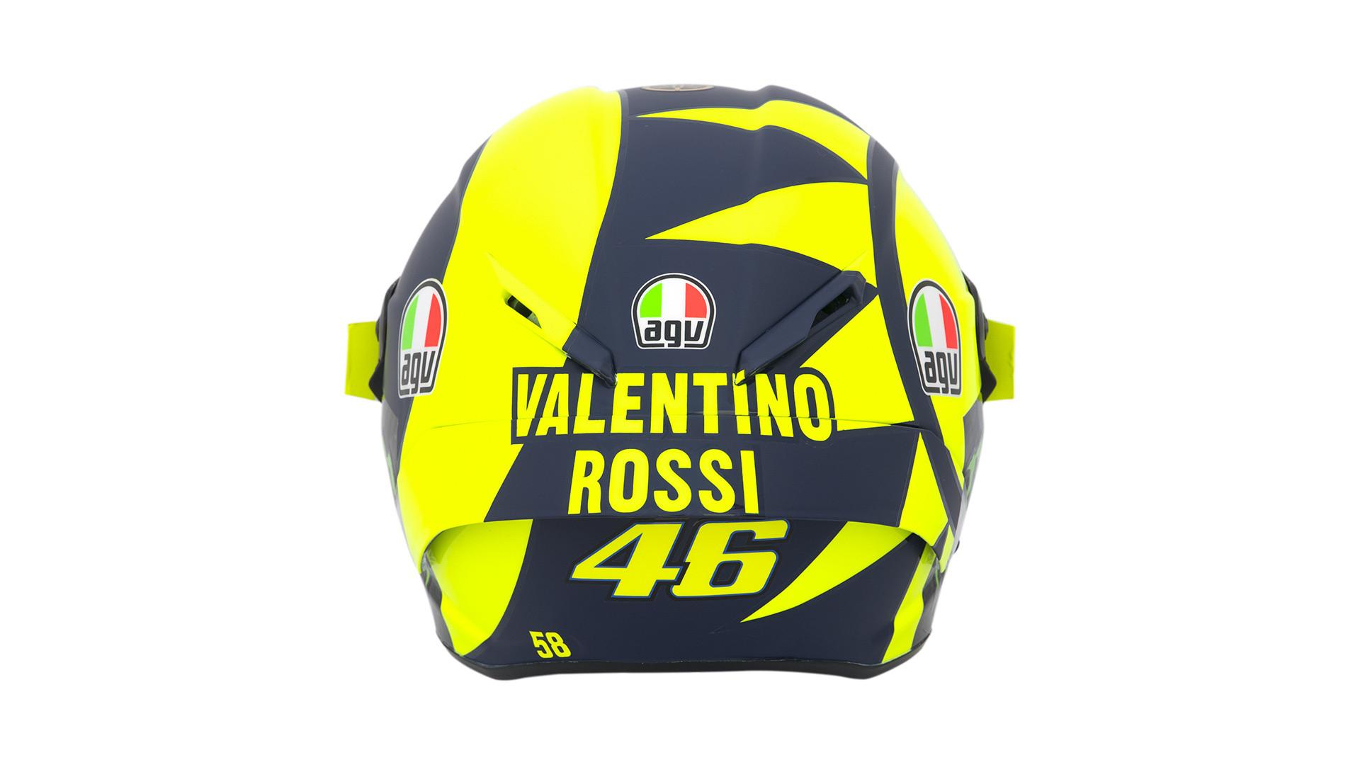 Valentino Rossi Unveils New Soleluna Design On AGV Pista GP R