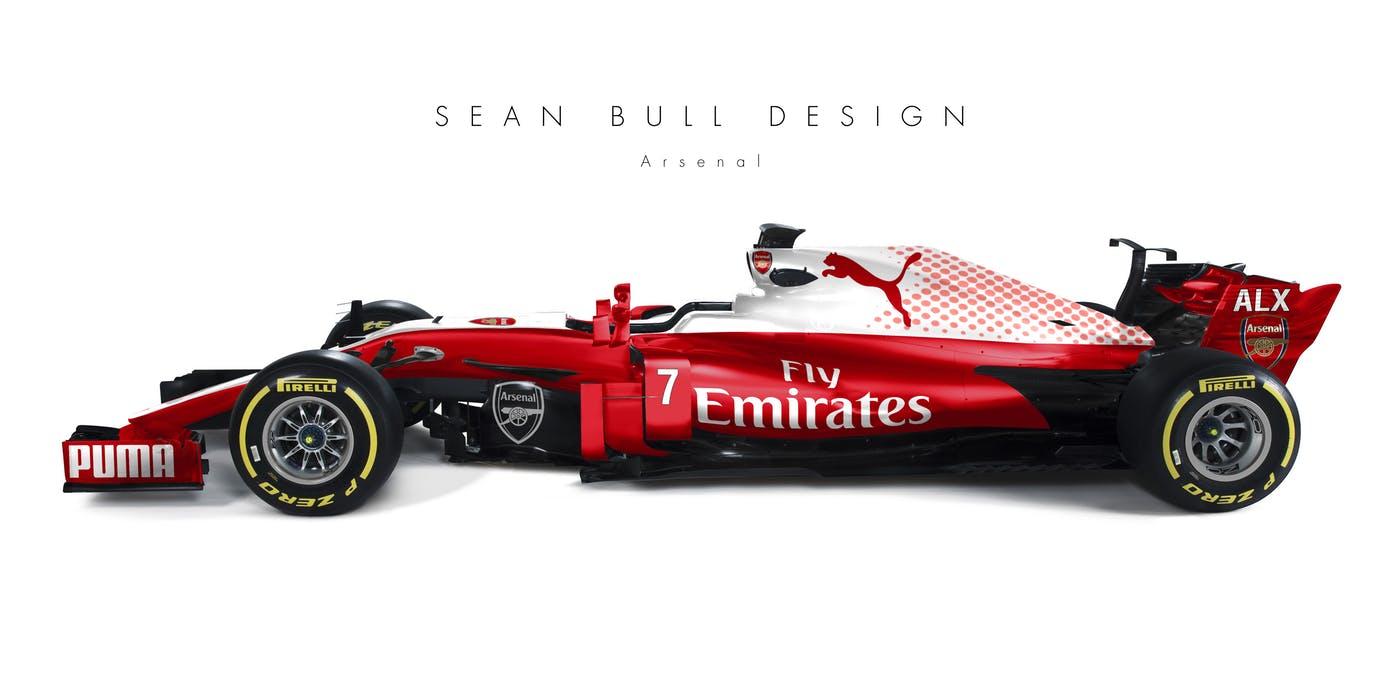 DriveTribe   Sean Bull Fantasy Formula 1 - ArsenalSean Bull Design    DriveTribe 2b0bf487738