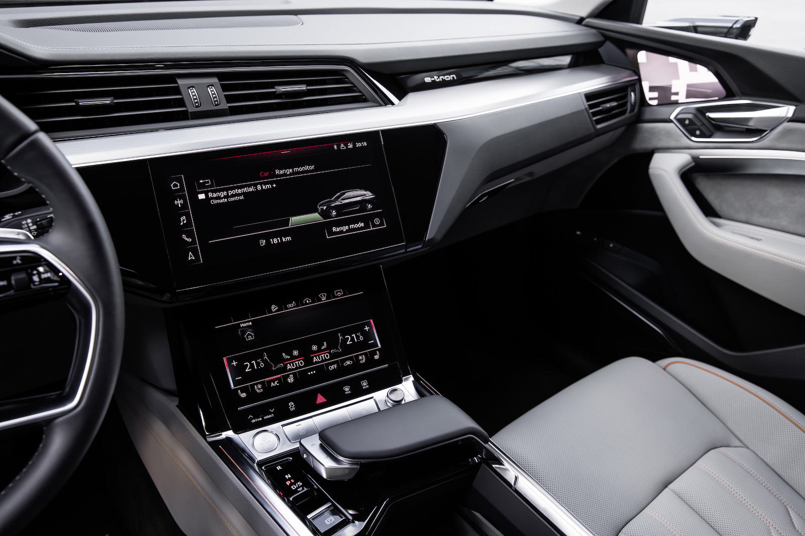 Audi Shows Off The Interior Of Its Electric E Tron Suv For