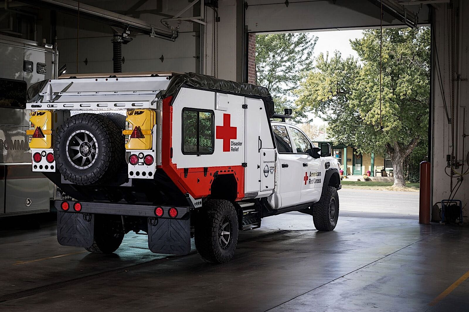 Nissan Ultimate Service Titan Joins The Red Cross To Help