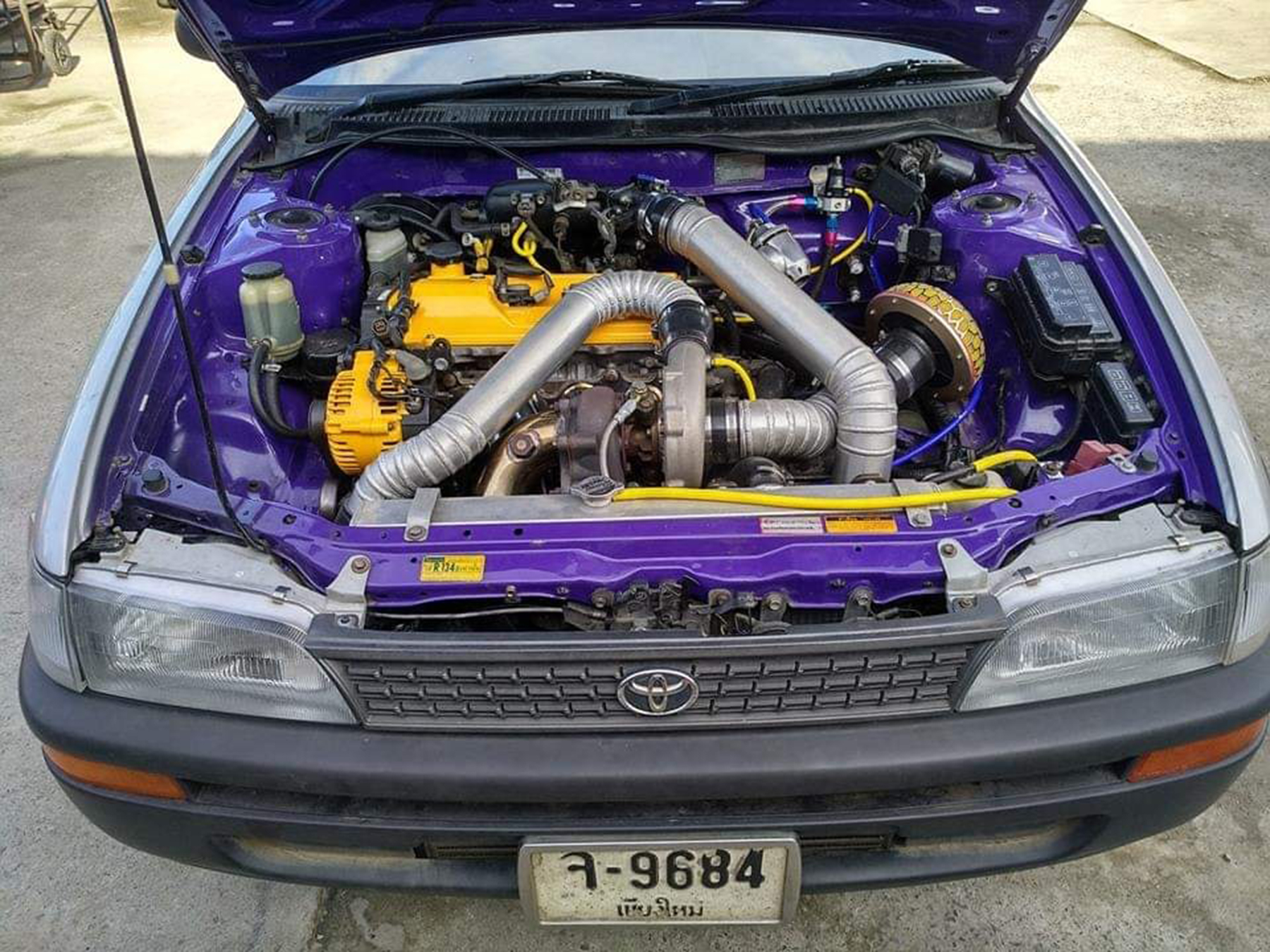this 400 hp beater toyota corolla with a 3s gte engine swap is the ultimate sleeper this 400 hp beater toyota corolla with