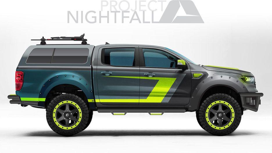 Ford Splashes Onto Sema Scene With 7 Off Road 2019 Ranger