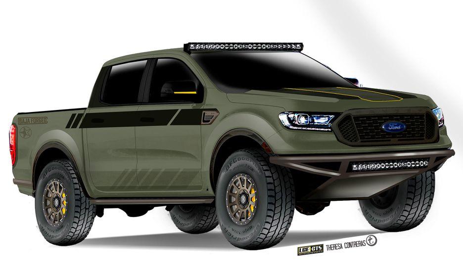 ford splashes  sema scene    road  ranger concepts  drive