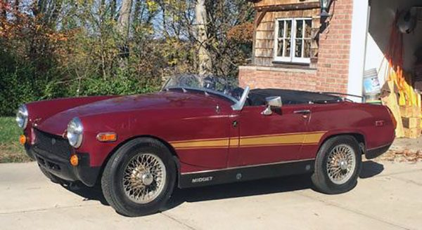 This MG Midget is Powered by a V-4 Honda Motorcycle Engine