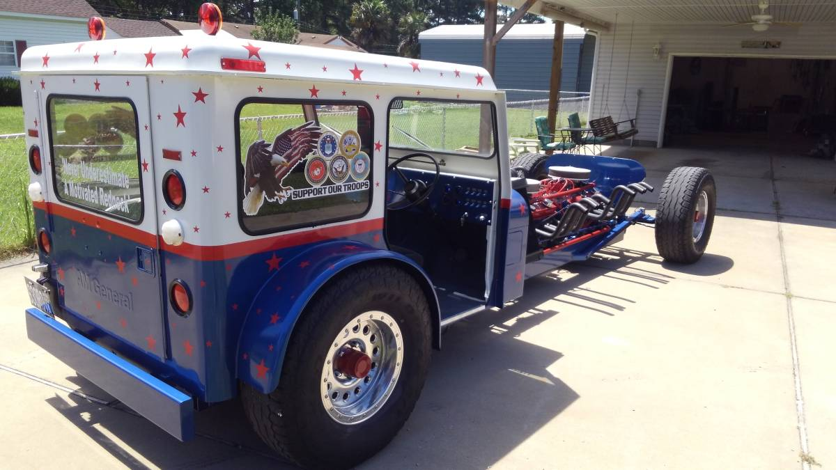 This Dual-Engined, Small Block Chevy-Powered Postal Jeep is