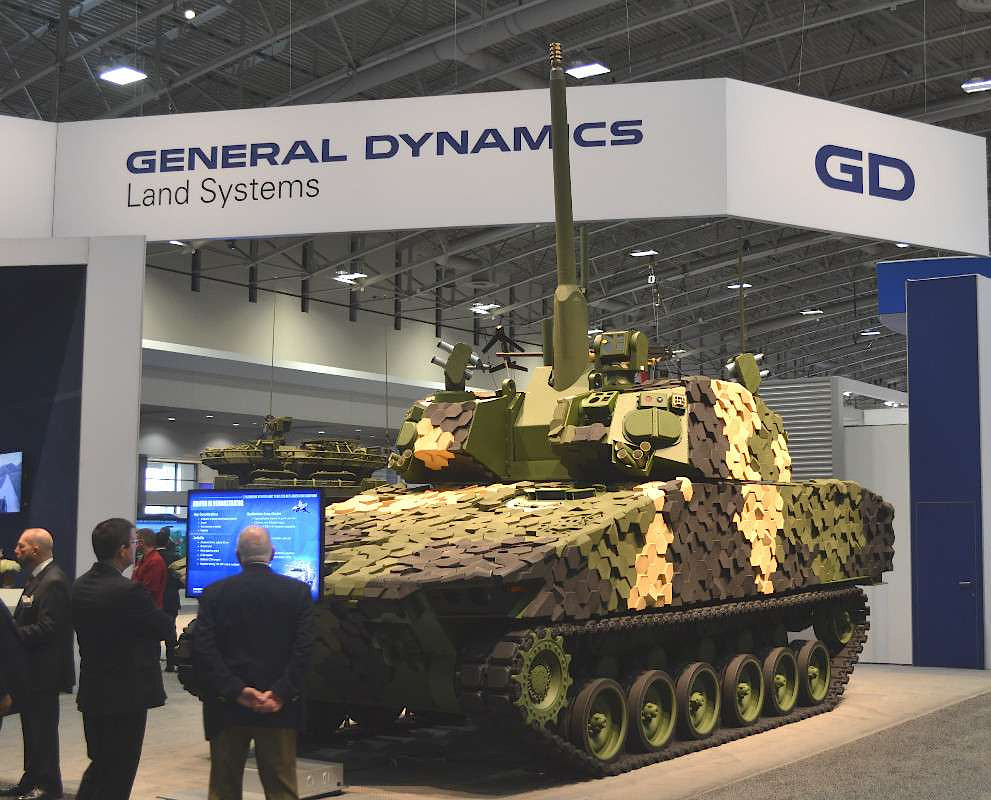General Dynamics Land Systems' infantry fighting vehicle-configured Griffin III, which shared various components with its Griffin II entry into the MPF program.