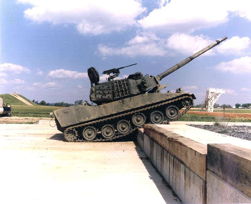One of the original M8 prototypes at Aberdeen Proving Ground in the 1990s.
