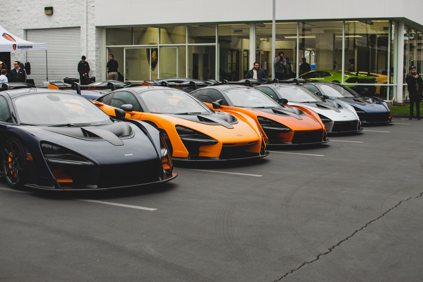 Gallery Seven Mclaren Sennas Take Over Lamborghini Newport Beach