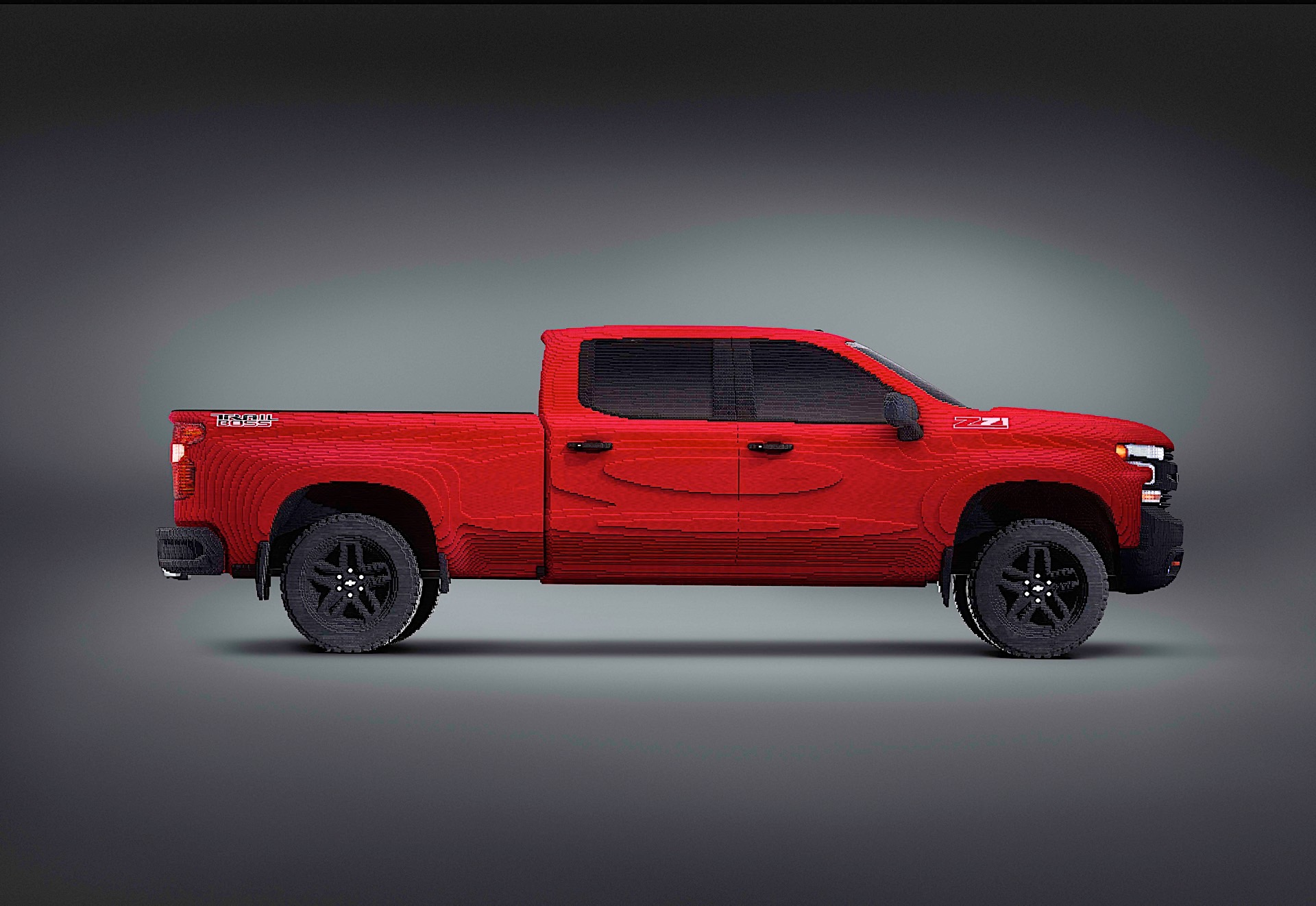 Chevy unveils full-sized Lego replica of its Silverado truck