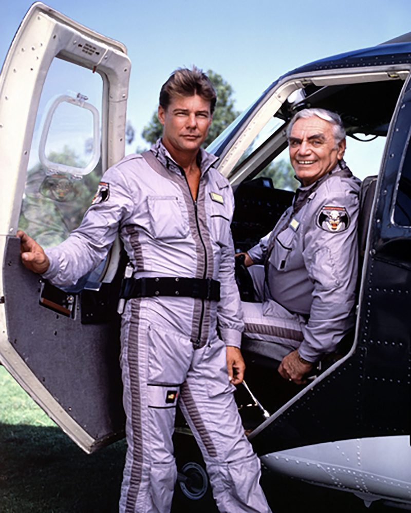 Jan Michael Vincent as Stringfellow Hawke and Ernest Borgnine as Dominic Santini.