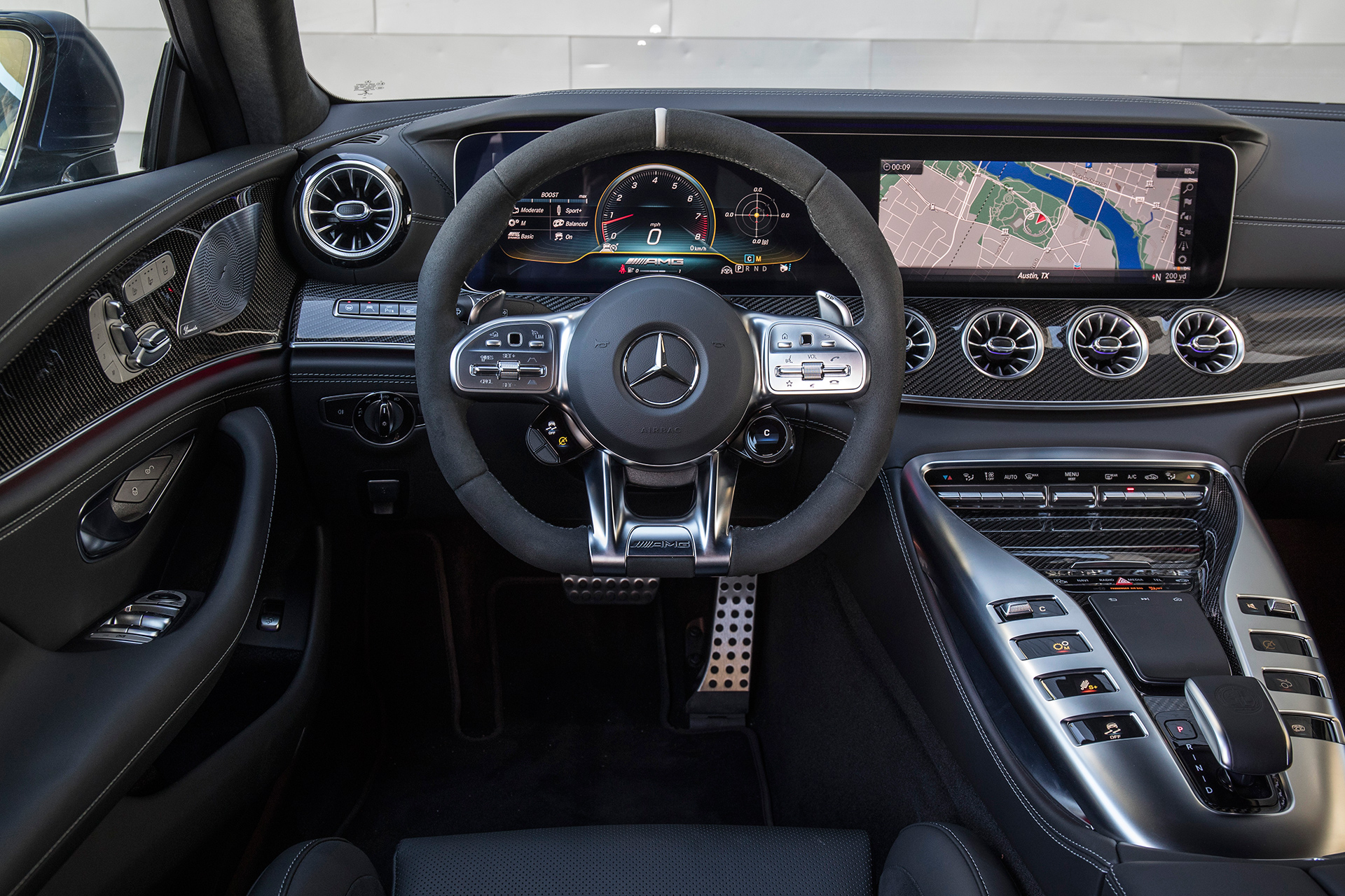 The interior of the 2019 Mercedes-AMG GT 63 4-Door