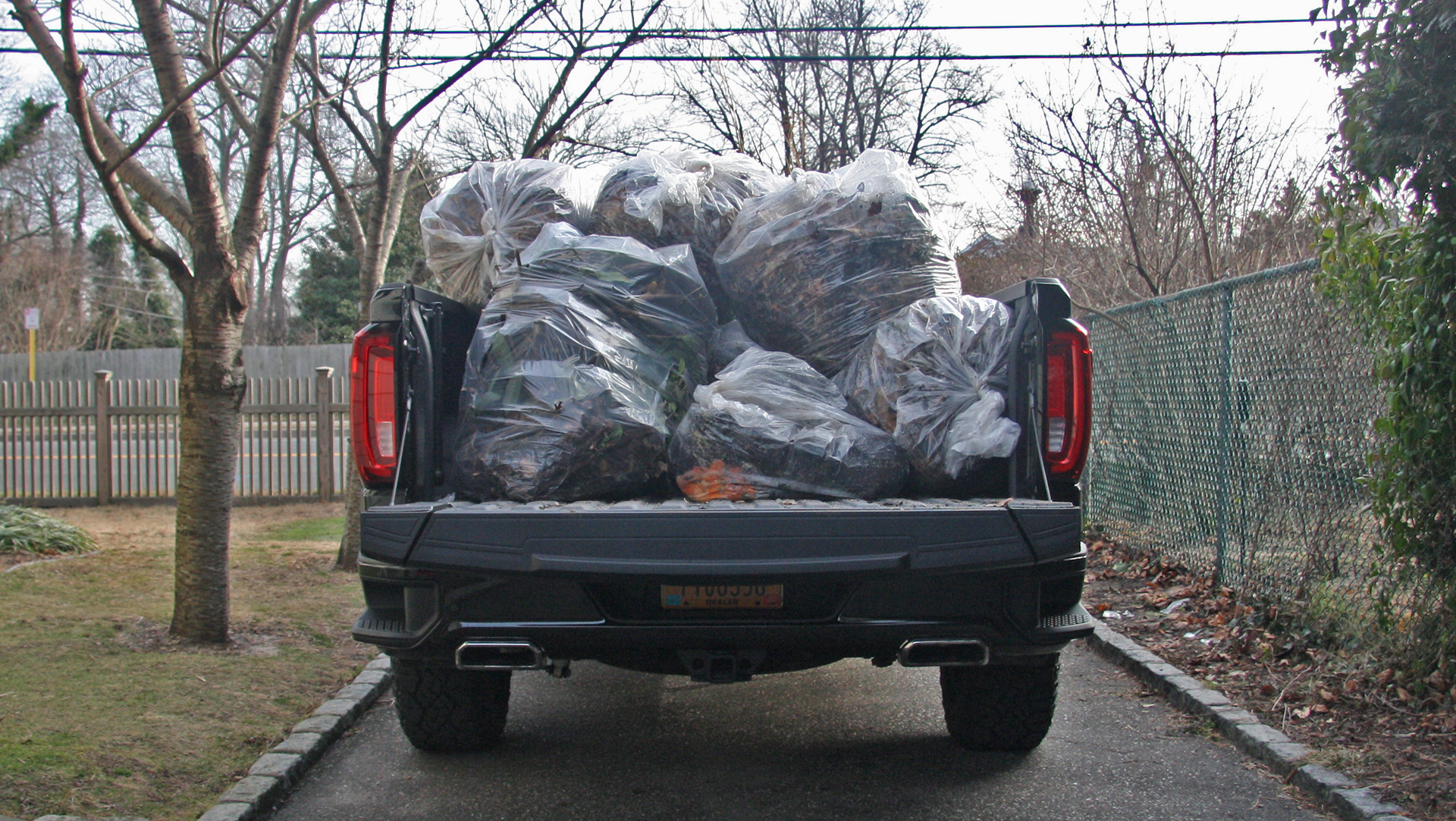 2019 GMC Sierra AT4 bed full of trash