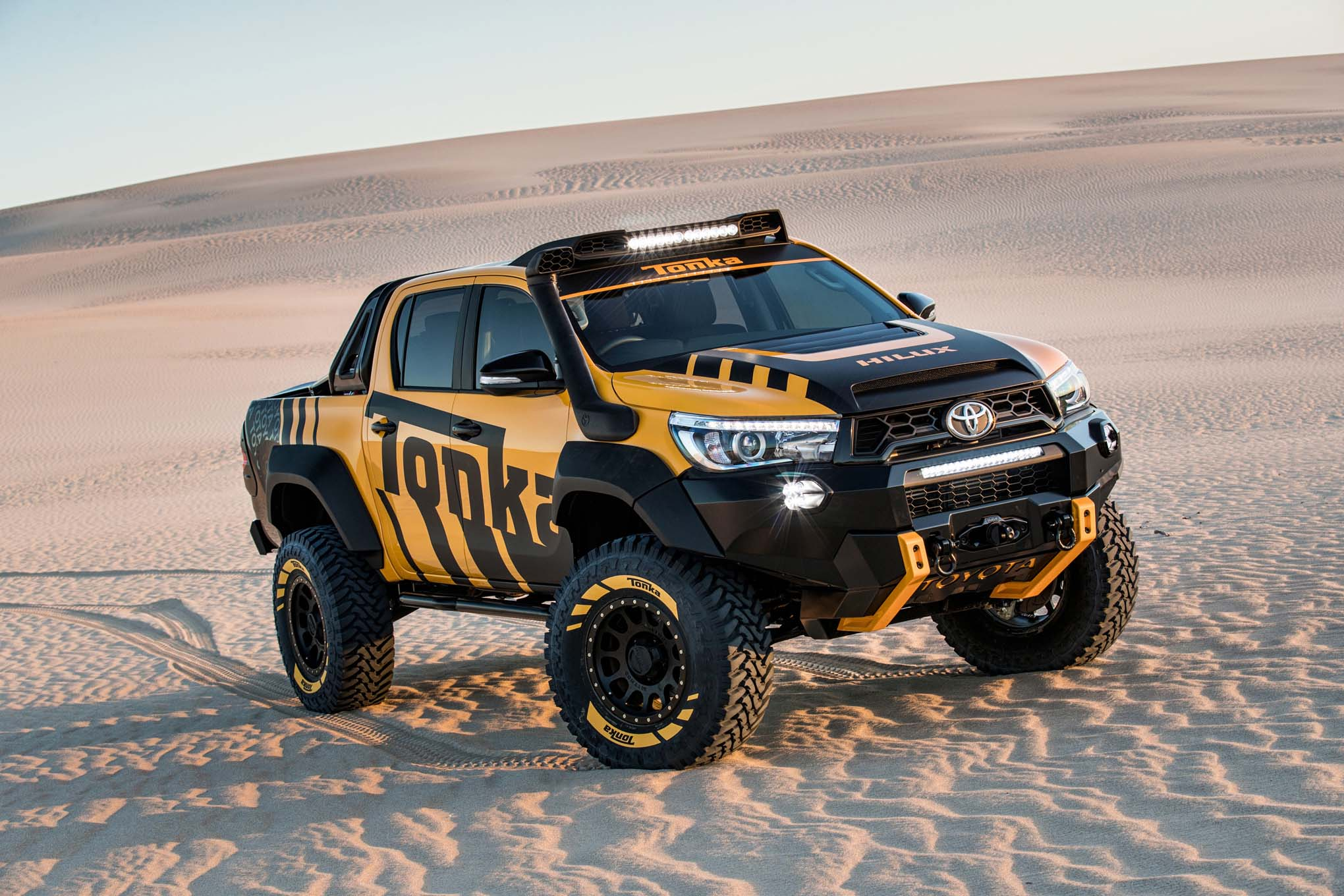 the toyota hilux tonka concept you 39 ve always dreamed about the drive. Black Bedroom Furniture Sets. Home Design Ideas