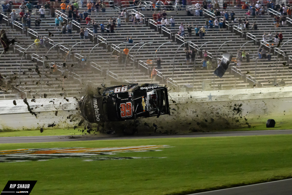 Timothy peters crashes spectacularly at texas motor for Texas motor speedway driving