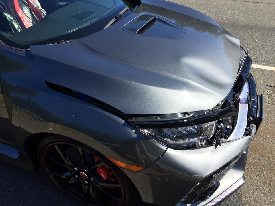 Unlucky honda civic type r owner gets rear ended heading for Honda civic type r near me