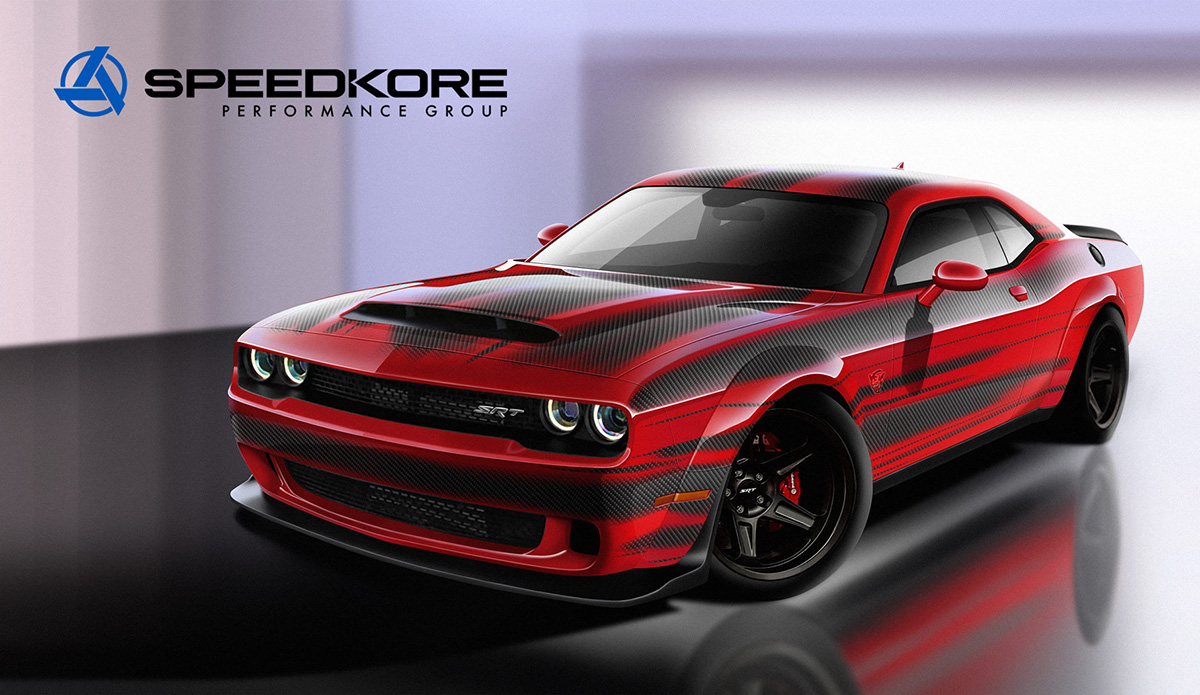 speedkore performance sammy hagar bringing carbon fiber bodied dodge demon to sema the drive. Black Bedroom Furniture Sets. Home Design Ideas