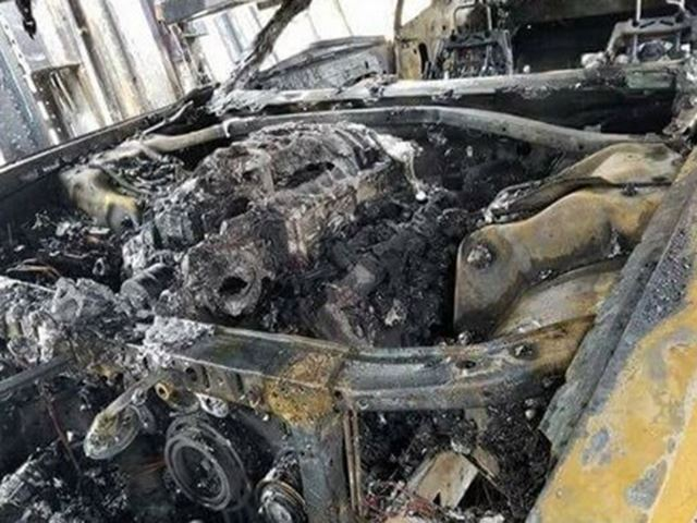 A Trio of Dodge Demons Went Up in Flames While in Transit - The Drive
