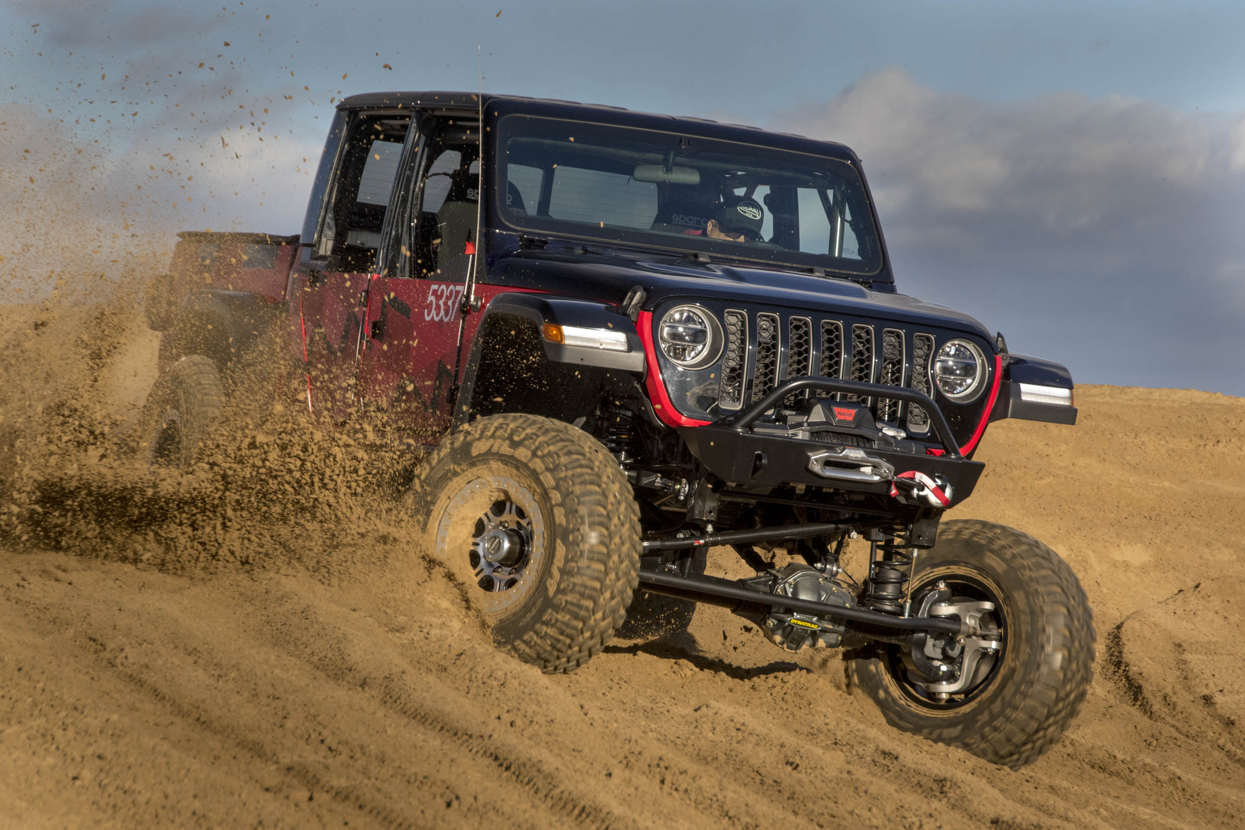 A 2020 Jeep Gladiator Pickup Competed In The Famous King Of The Hammers Off Road Race