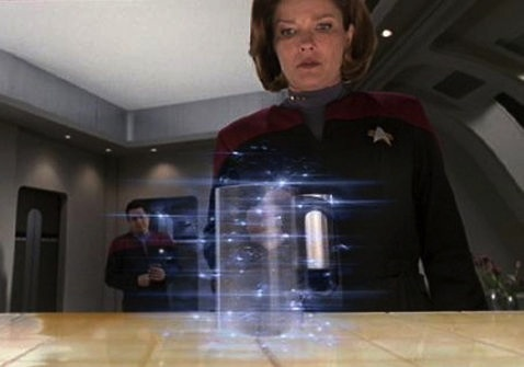 Figure 1.1: The replicator in Star Trek creating a coffee mug.