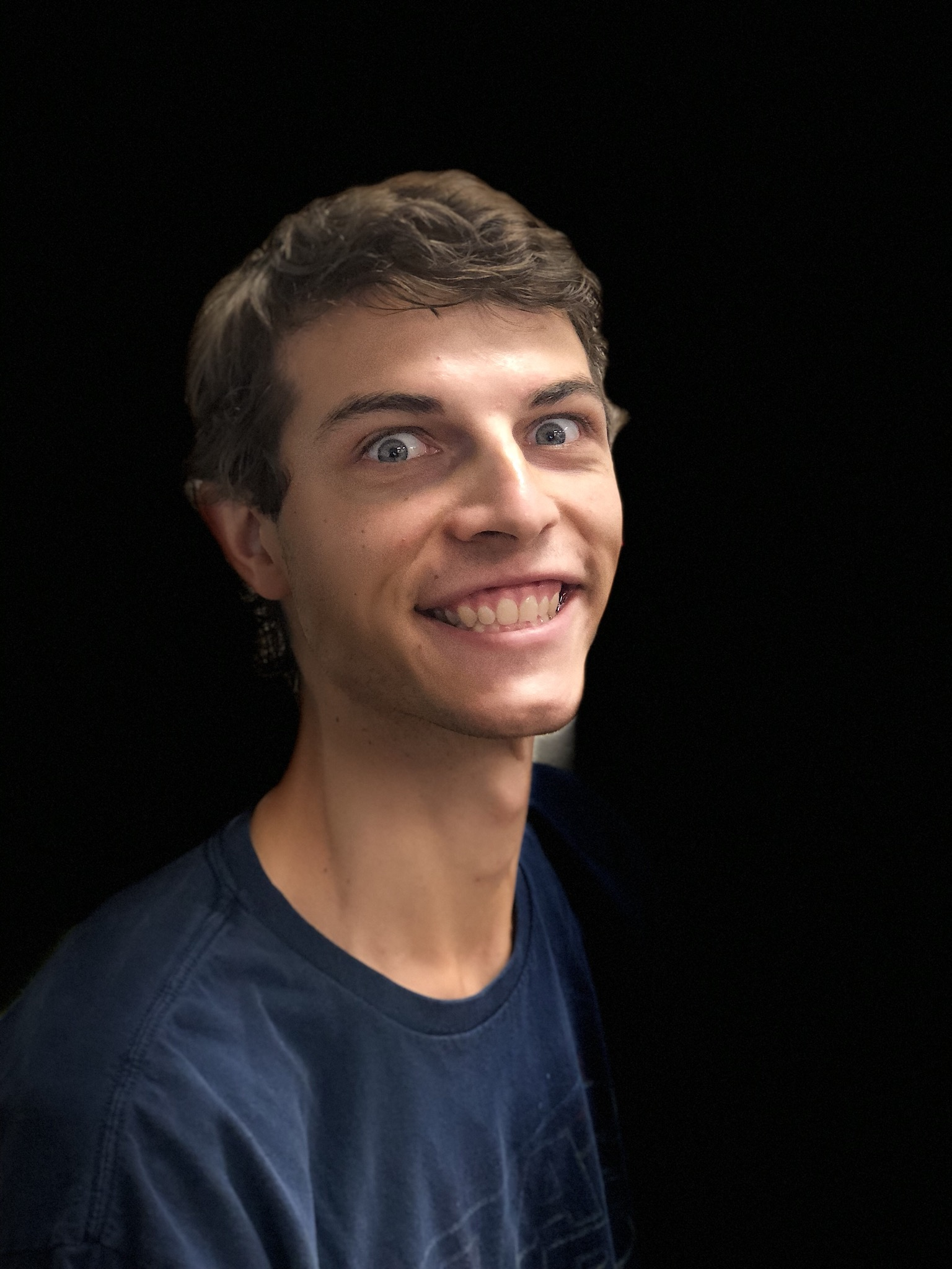 Picture of Ian using the new lighting effects that looks very bad.