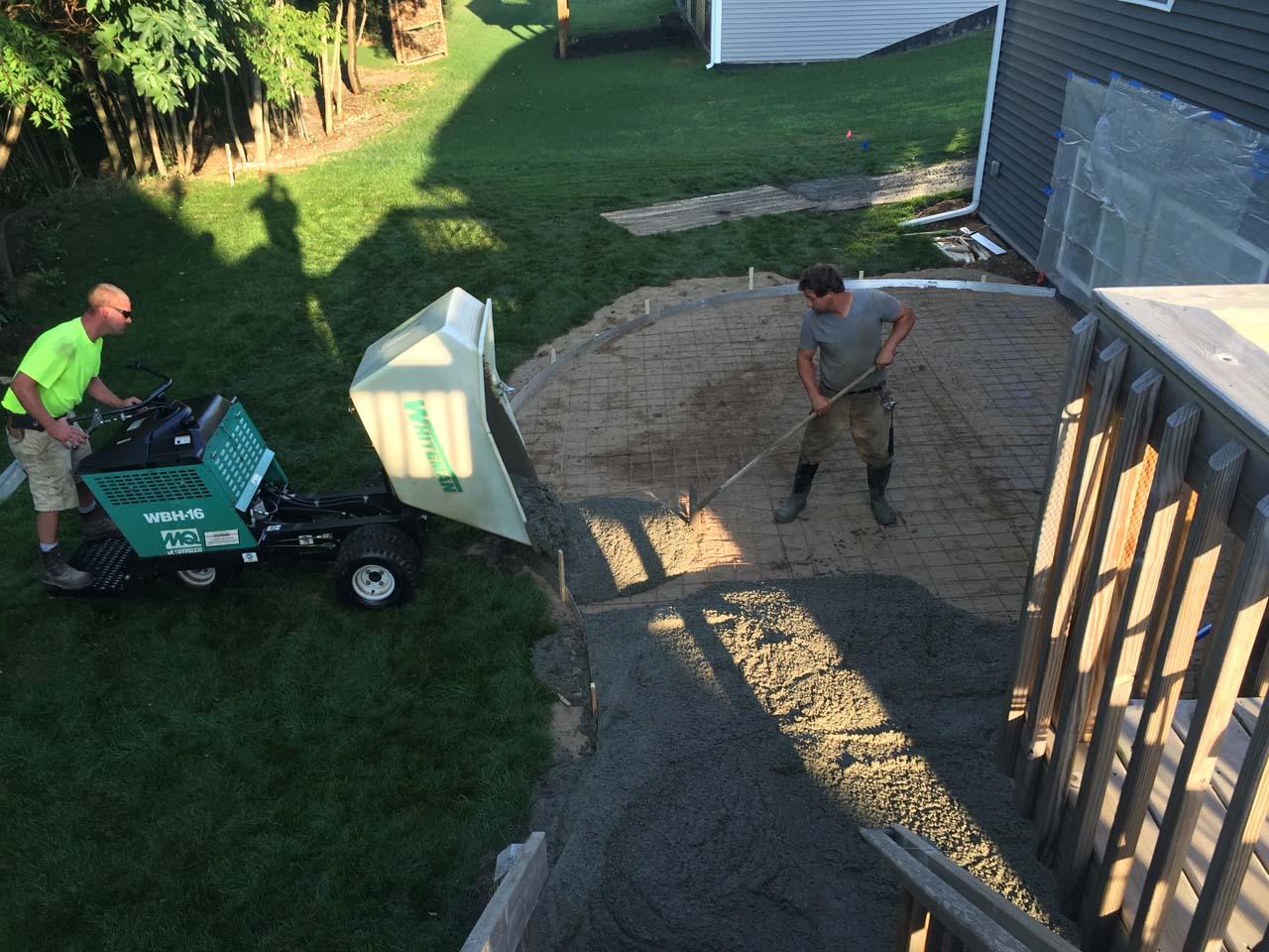 Dumping the Concrete