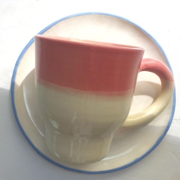 Ombre Mug & Saucer Set
