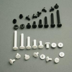 Plastic binding screws with hole