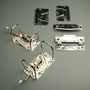 Lever arch mechanisms for ring binders