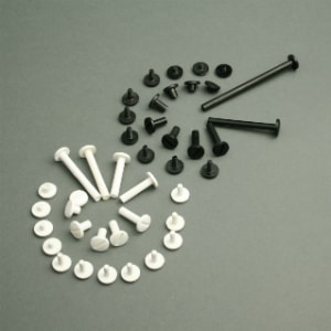 tornillos para encuadernar plásticos